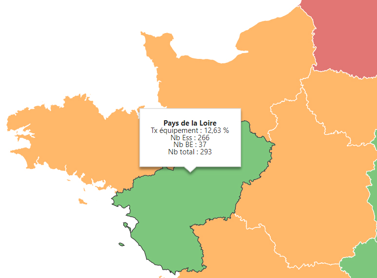 Data visualisation info bulle